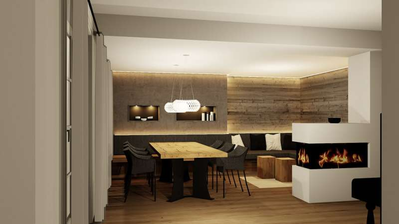 Planung Esszimmer / Lounge - Rendering