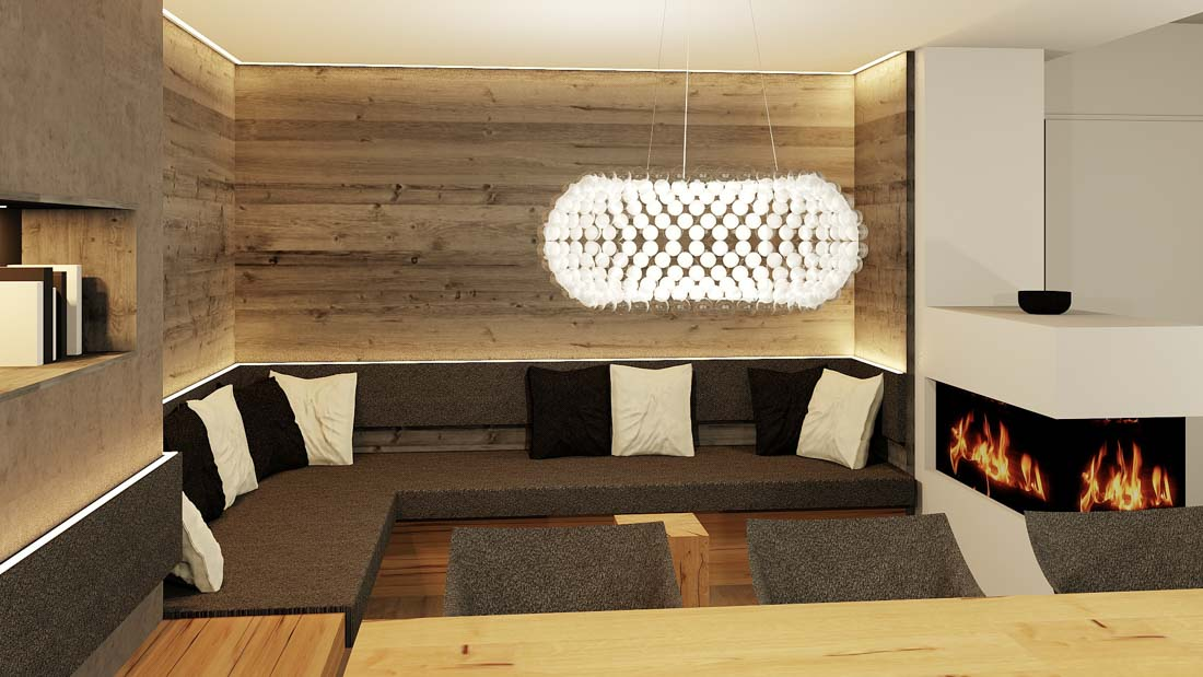 Rendering 2 Esszimmer Lounge